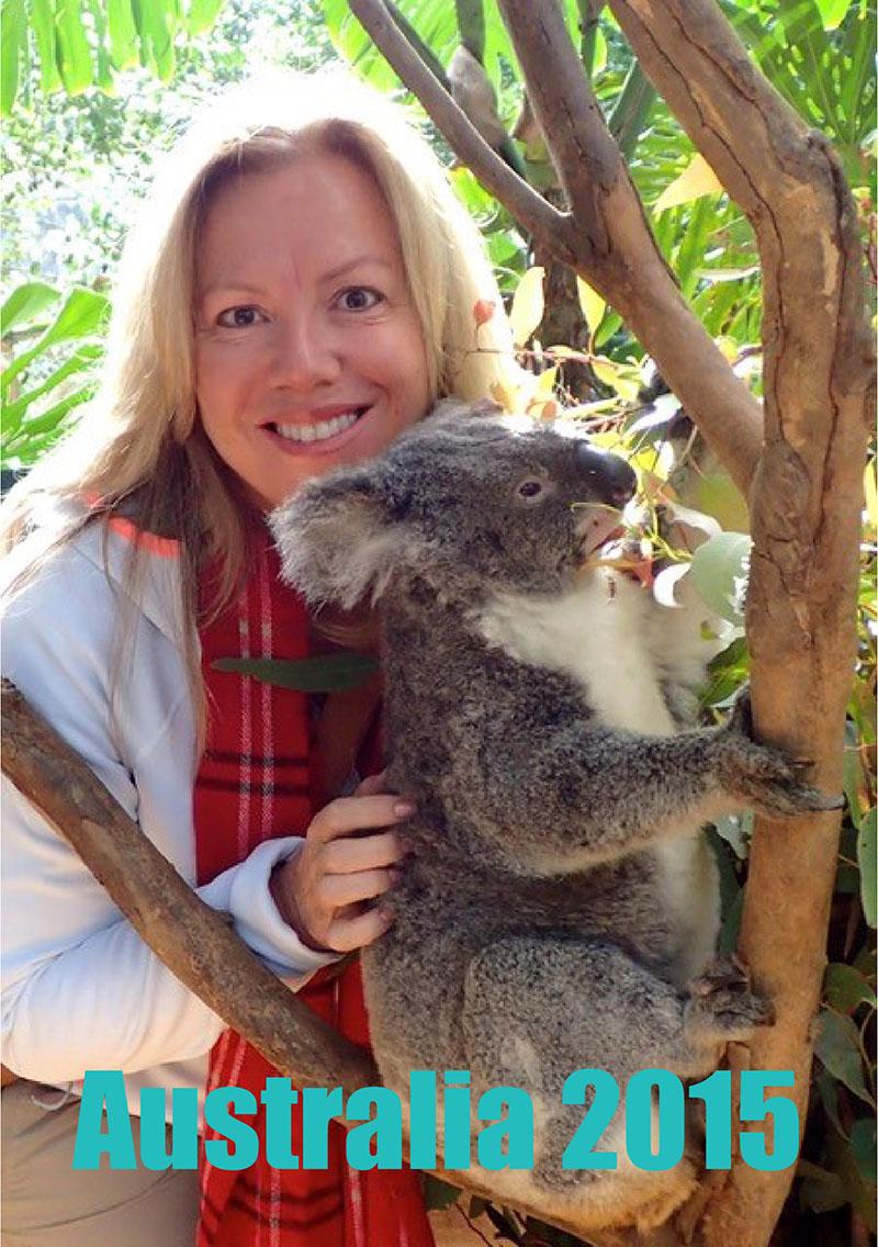 Cathy Sprecco with Koala - Australia 2015