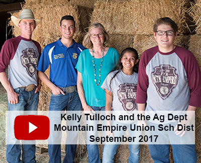 Watch Mountain Empire FFA and Kelly Tulloch's Ag Program Video